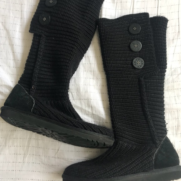 1980507b3c5 Black Crochet UGG Boots